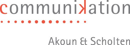 Logo of communikation Akoun & Scholten